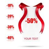 Abstrakte Verkaufsmarke mit Farbband stock abbildung