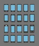 Abstrakte verschiedene mobile Geräte Lizenzfreie Stockbilder