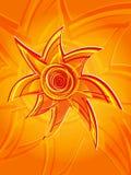 Abstrakte Vertikale der Sonne 2 Stockbild