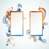 Abstrakte vertikale Fahnen Lizenzfreie Stockfotografie