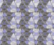 Abstrakte Verzierung von den grauen Dreiecken und von den Spiralen Lizenzfreies Stockfoto