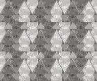 Abstrakte Verzierung von den grauen Dreiecken und von den Spiralen Lizenzfreies Stockbild