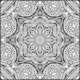 Abstrakte Verzierung Zentangle Mandala Style Black And White Stockfotografie
