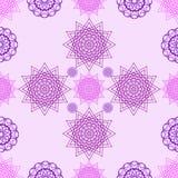Abstrakte violette Blumen auf einem rosa Hintergrund Lizenzfreies Stockfoto