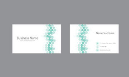 Abstrakte Visitenkarte-Design-Vektor-Schablone Stockfoto