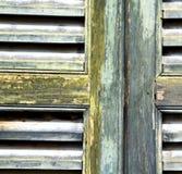 Abstrakte Vorhänge Varese-Palastitaliens der konkrete Ziegelstein Lizenzfreies Stockbild