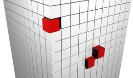 Abstrakte Würfel Stockfoto