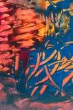 Abstrakte Wachsmalerei, Detail lizenzfreie stockfotos