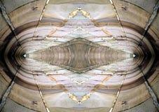 Abstrakte Wand-Reflexion 2 stockbild