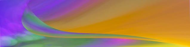 Abstrakte Web-Fahne mit Welle Lizenzfreies Stockfoto