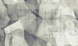 Abstrakte weiße digitale polygonale Beschaffenheit des Hintergrundes 3d Stockfotografie