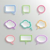 Abstrakte weiße Sprache-Blasen eingestellt Stockfoto