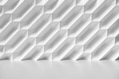 Abstrakte weiße Wand im Raum mit dem Parkettboden farblos lizenzfreie abbildung