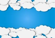 Abstrakte weiße Wolken im blauer Himmel-Hintergrund vektor abbildung