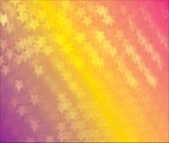 Abstrakte Weißsterne auf orange buntem Hintergrund Stockbild