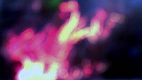 Abstrakte weiche defocused blured helle Leckfarbe beleuchtet der neuen dynamisches lebhaftes Qualitätsuniversalbewegung des Hinte stock video