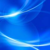 Abstrakte weiche Linie und bokeh auf blauem Hintergrund. Stockfotografie