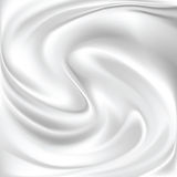 Abstrakte weiße Seide Stockfoto