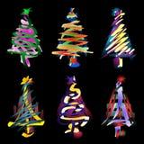 Abstrakte Weihnachtsbäume Lizenzfreie Abbildung