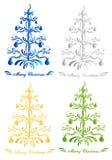 Abstrakte Weihnachtsbäume Stockfotografie