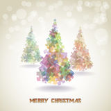 Abstrakte Weihnachtsbäume Lizenzfreies Stockfoto