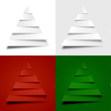 4 abstrakte Weihnachtsbäume Lizenzfreies Stockfoto