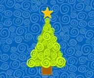 Abstrakte Weihnachtsbaum-Karte Stockfotos