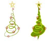 Abstrakte Weihnachtsbaum-Klipp-Kunst Lizenzfreie Stockfotos