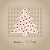 Abstrakte Weihnachtsbaumkarte Stockfotos
