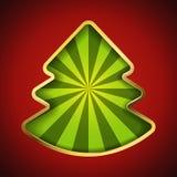Abstrakte Weihnachtsbaumkarte Stockfoto