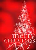 Abstrakte Weihnachtsgrußkarte Stockfotos