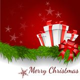 Abstrakte Weihnachtshintergrund-vektorabbildung Lizenzfreie Stockbilder