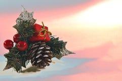 Abstrakte Weihnachtskarte Lizenzfreie Stockfotografie