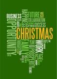 Abstrakte Weihnachtskarte mit Jahreszeitwörtern Stockbilder