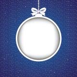 Abstrakte Weihnachtskugel Lizenzfreie Stockfotografie
