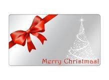 Abstrakte Weihnachtskugelpostkarte - giftcards Stockbild
