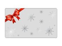 Abstrakte Weihnachtskugelpostkarte - giftcards Stockfotografie