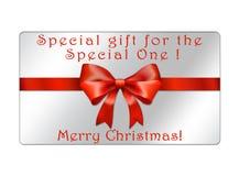 Abstrakte Weihnachtskugelpostkarte - giftcards Stockfotos