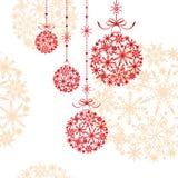 Abstrakte Weihnachtsverzierung Stockbild