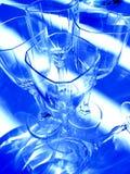 Abstrakte Weingläser lizenzfreie stockfotos