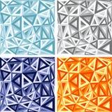 Abstrakte Weinlese moderner erstklassiger Hexadecagon-Vektorhintergrund Stockbilder