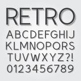 Abstrakte Weinlese-Retro- Guss und Zahlen Stockbilder