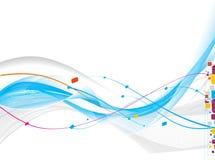 Abstrakte Welle zeichnet Hintergrund Lizenzfreies Stockbild