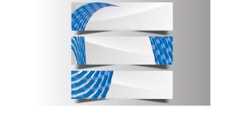 Abstrakte Wellen-Curvy Fahnen-Titel benutzt für Förderung auf Website und anderen vektor abbildung