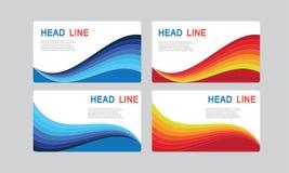 Abstrakte Wellen-Curvy Fahnen-Titel benutzt für Förderung auf Website und anderen lizenzfreie abbildung