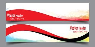Abstrakte Wellen-Geschäfts-Fahnen-neuer Vektor Stockfoto