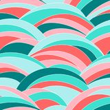 Abstrakte wellenförmige Beschaffenheit Nahtloses Muster bunt Stockbilder