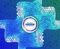 Abstrakte Wellenform gemacht von den Hexagonen stockbilder