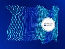 Abstrakte Wellenform gemacht von den Hexagonen lizenzfreie stockfotografie