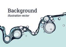 Abstrakte Wellenillustration des blauen Wassers Lizenzfreie Stockbilder